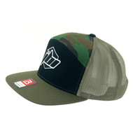 Ride JBI camo hat front left side
