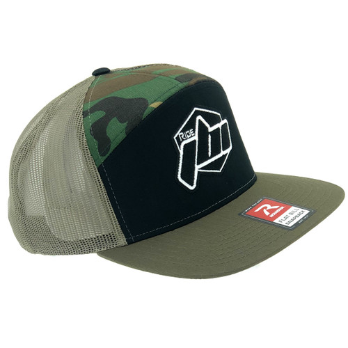 Ride JBI camo hat front right side