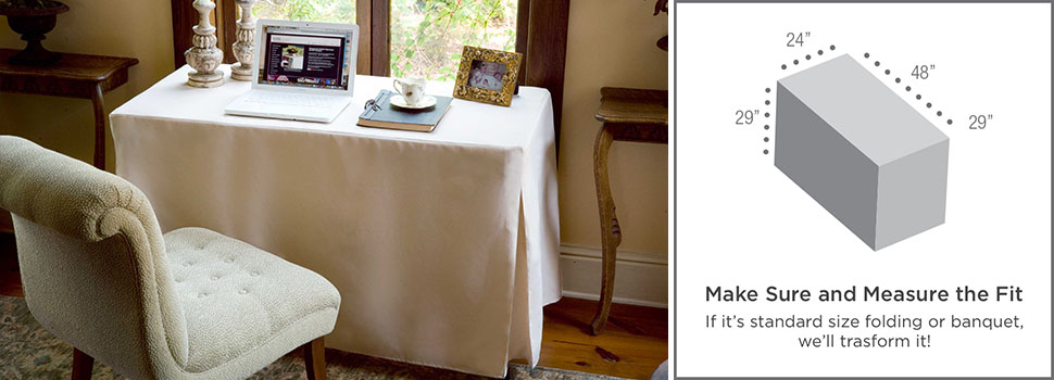 make sure your folding table matches this 4 foot rectangular table cover