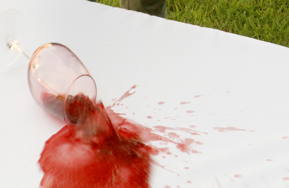 Tablevogue's fitted table covers are stain resistant