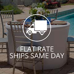 tablevogue offers flat rate shipping for all fitted table covers