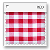 click here for red and white picnic plaid colored tablevogues