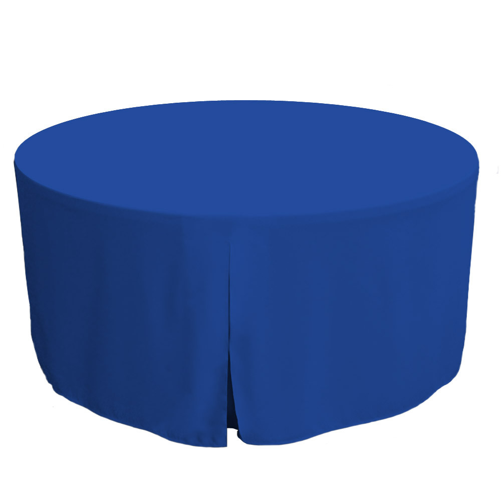 225 & 60-Inch Fitted Round Table Cover - Royale