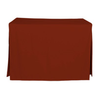 4foot fitted table cover paprika
