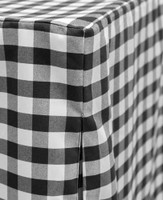 6-Foot Picnic Plaid Fitted Table Cover Black/White
