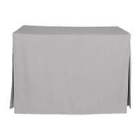 4-Foot Fitted Table Cover - Black Chambray