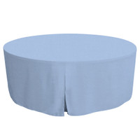 72-Inch Fitted Round Table Cover - Blue Chambray