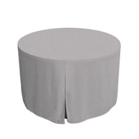 48-Inch Fitted Round Table Cover - Black Chambray