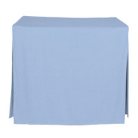 34-Inch Fitted Table Cover - Blue Chambray