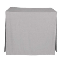 34-Inch Fitted Table Cover - Black Chambray