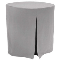 30-Inch Decorator Table Cover - Black Chambray