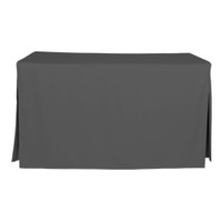 5-Foot Fitted Table Cover - Charcoal