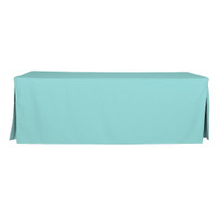 8-Foot Fitted Table Cover - Turquoise
