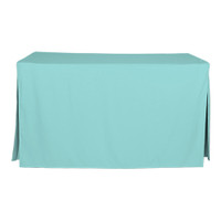 5-Foot Fitted Table Cover - Turquoise