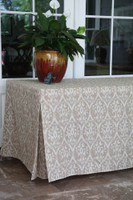 6-Foot Fitted Table Cover - Damask Caramel