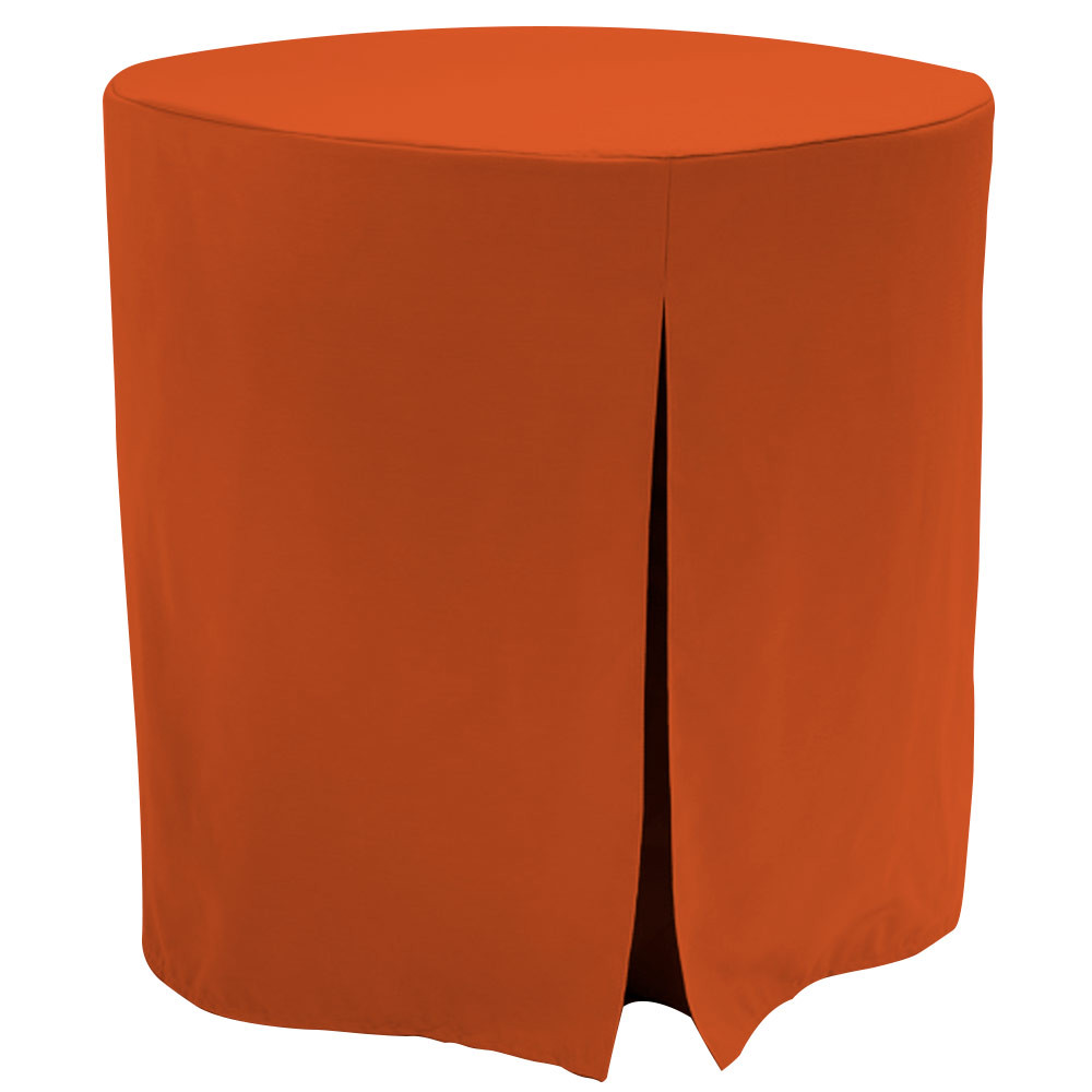 """Re-dis""""COVER"""" a favorite..transform your decorator/accent table into a modern sensation!  This 30-inch fitted decorator table cover is a custom-sized table cover in a fashionable signature solid. The decorator table cover is made from 100% woven polyester and premium thread count fabric. The stitched edges create a custom look while to-the-floor coverage neatly disguised table legs.      The 30"""" decorator table cover is the most precise table cloth design, specially made for the popular decorator table. It's great for showcasing in the bedroom, living room, second home, rental properties, guest home, first home, apartment or at the office. The genius design of decorator table cover allows for the pleats to be used front to back or side to side. Featuring washable, premium fabric that can be reused over and over again. Tablevogue decorator table covers offer the luxury of choosing between a modern, clean fit or an embellished, unique look when you add tassels, ribbon, toppers or more.      The 30"""" decorator table cover is a great, all-purpose, multi-functional table cloth size. Decorator tables make for great corner tables, food and drink stations at parties and events, night desks and so much more. It's one of the most popular table sizes used for a variety of events and features an ergonomic design. Many decorator tables might be old and shabby - give your trusty decorator new life with the Tablevogue's 30"""" decorator table cloth, specially designed to hide the old table underneath, turning it into a chic, stylish addition to your home or event decor.      Dimensions: 30"""" diameter x 30"""" high, fits a standard 30-inch decorator table.   Care Instructions: 100% Polyester, Machine wash warm, No or low tumble dry"""