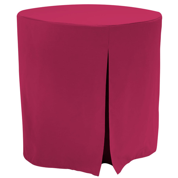 """Re-dis""""COVER"""" a favorite..transform your accent/decorator table into a modern sensation!  This 30-inch fitted decorator/accent table cover is a custom-sized table cloth, made with solid natural colored table cloth that's designed to fit a standard 30-inch decorator table. The hue matches cream, beige, eggshell, white and off white home or event decor perfectly. Because it is a stylish neutral color, it also fits right in with virtually any color it's put next to. The decorator table cloth is made from 100% woven polyester and 300 thread count fabric. The stitched edges create a custom look while to-the-floor coverage neatly disguised table legs.   The 30"""" decorator or accent able cover is the most precise table cloth design, specially made for the popular decorator table. It's great for showcasing in the bedroom, living room, second home, rental properties, guest home, first home, apartment or at the office. The genius design of decorator table cover allows for the pleats to be used front to back or side to side. Featuring washable, premium fabric that can be reused over and over again. Tablevogue decorator table covers offer the luxury of choosing between a modern, clean fit or an embellished, unique look when you add tassels, ribbon, toppers or more.   The 30"""" decorator table cover is a great, all-purpose, multi-functional table cloth size. Decorator/accent tables make for great corner tables, food and drink stations at parties and events, night desks and so much more. It's one of the most popular table sizes used for a variety of events and features an ergonomic design. Many decorator tables might be old and shabby - give your trusty decorator/accent table new life with the Tablevogue's 30"""" decorator table cloth, specially designed to hide the old table underneath, turning it into a chic, stylish addition to your home or event decor.   Stylish and durable, featuring premium quality fabric for a great price: Available in Natural color, 30""""X30"""" fitted decorator /ac"""
