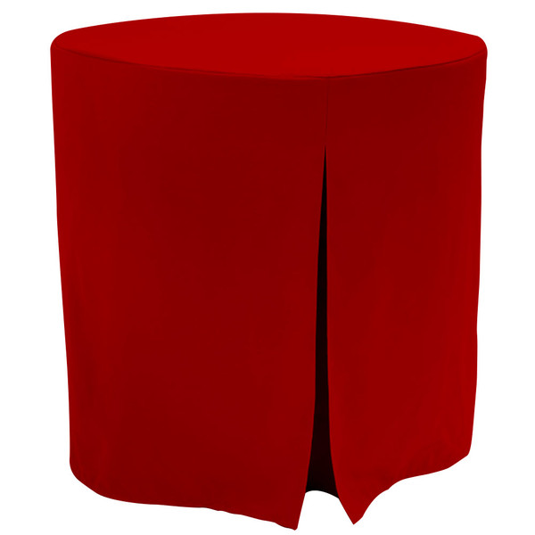 """Re-dis""""COVER"""" a favorite..transform your decorator/accent table into a modern sensation!  This 30-inch fitted decorator table cover is a custom-sized table cover in a fashionable signature solid. The decorator table cover is made from 100% woven polyester and premium thread count fabric. The stitched edges create a custom look while to-the-floor coverage neatly disguised table legs.   The 30"""" decorator table cover is the most precise table cloth design, specially made for the popular decorator table. It's great for showcasing in the bedroom, living room, second home, rental properties, guest home, first home, apartment or at the office. The genius design of decorator table cover allows for the pleats to be used front to back or side to side. Featuring washable, premium fabric that can be reused over and over again. Tablevogue decorator table covers offer the luxury of choosing between a modern, clean fit or an embellished, unique look when you add tassels, ribbon, toppers or more.   The 30"""" decorator table cover is a great, all-purpose, multi-functional table cloth size. Decorator tables make for great corner tables, food and drink stations at parties and events, night desks and so much more. It's one of the most popular table sizes used for a variety of events and features an ergonomic design. Many decorator tables might be old and shabby - give your trusty decorator new life with the Tablevogue's 30"""" decorator table cloth, specially designed to hide the old table underneath, turning it into a chic, stylish addition to your home or event decor.   Dimensions: 30"""" diameter x 30"""" high, fits a standard 30-inch decorator table.  Care Instructions: 100% Polyester, Machine wash warm, No or low tumble dry.   Re-dis""""COVER"""" a favorite..transform your decorator/accent table into a modern sensation!  This 30-inch fitted decorator table cover is a custom-sized table cover in a fashionable signature solid. The decorator table cover is made from 100% woven polyester and premium t"""