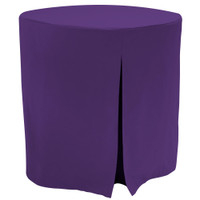 "Re-dis""COVER"" a favorite..transform your decorator/accent table into a modern sensation!  This 30-inch fitted decorator table cover is a custom-sized table cover in a fashionable signature solid. The decorator table cover is made from 100% woven polyester and premium thread count fabric. The stitched edges create a custom look while to-the-floor coverage neatly disguised table legs.   The 30"" decorator table cover is the most precise table cloth design, specially made for the popular decorator table. It's great for showcasing in the bedroom, living room, second home, rental properties, guest home, first home, apartment or at the office. The genius design of decorator table cover allows for the pleats to be used front to back or side to side. Featuring washable, premium fabric that can be reused over and over again. Tablevogue decorator table covers offer the luxury of choosing between a modern, clean fit or an embellished, unique look when you add tassels, ribbon, toppers or more.   The 30"" decorator table cover is a great, all-purpose, multi-functional table cloth size. Decorator tables make for great corner tables, food and drink stations at parties and events, night desks and so much more. It's one of the most popular table sizes used for a variety of events and features an ergonomic design. Many decorator tables might be old and shabby - give your trusty decorator new life with the Tablevogue's 30"" decorator table cloth, specially designed to hide the old table underneath, turning it into a chic, stylish addition to your home or event decor.   Dimensions: 30"" diameter x 30"" high, fits a standard 30-inch decorator table.  Care Instructions: 100% Polyester, Machine wash warm, No or low tumble dry."