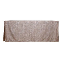 6-Foot Fitted Table Cover - Paisley Gold