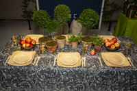 34 Inch Fitted Table Cover - Bali Black