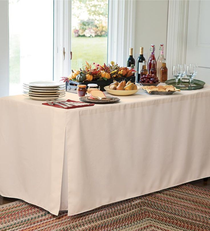8 Foot Natural Table Cover