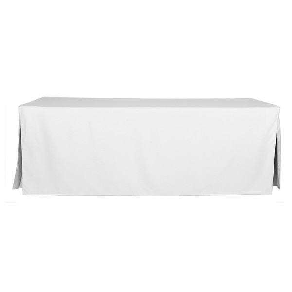 8 foot white table cover. Black Bedroom Furniture Sets. Home Design Ideas