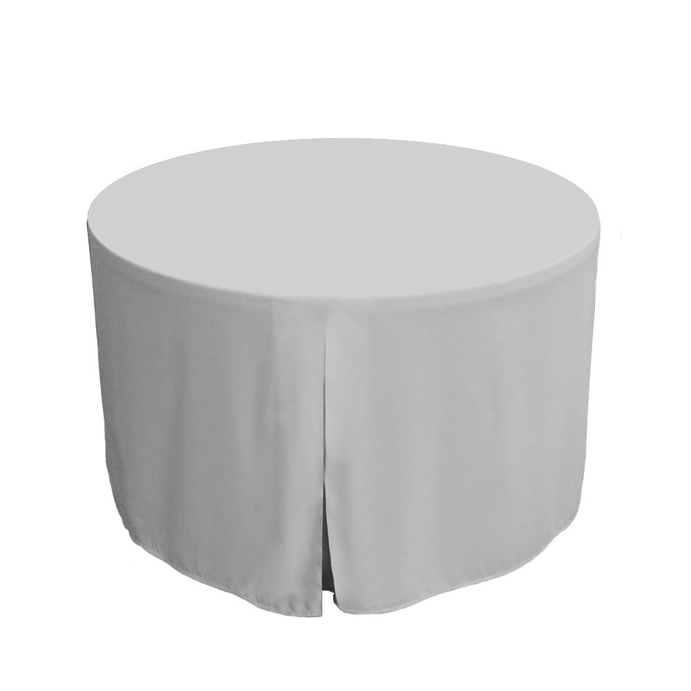 48inch fitted round table cover white image 1 image 1