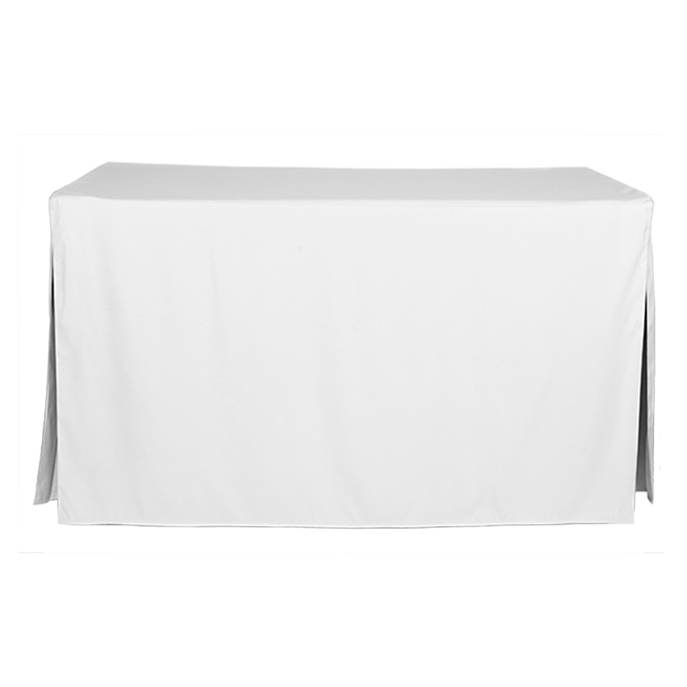 5 Foot White Table Cover