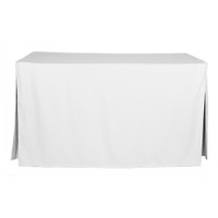 5-Foot Fitted Table Cover - White