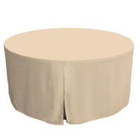 60-Inch Fitted Round Table Cover - Natural