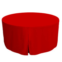 60-Inch Fitted Round Table Cover - Red