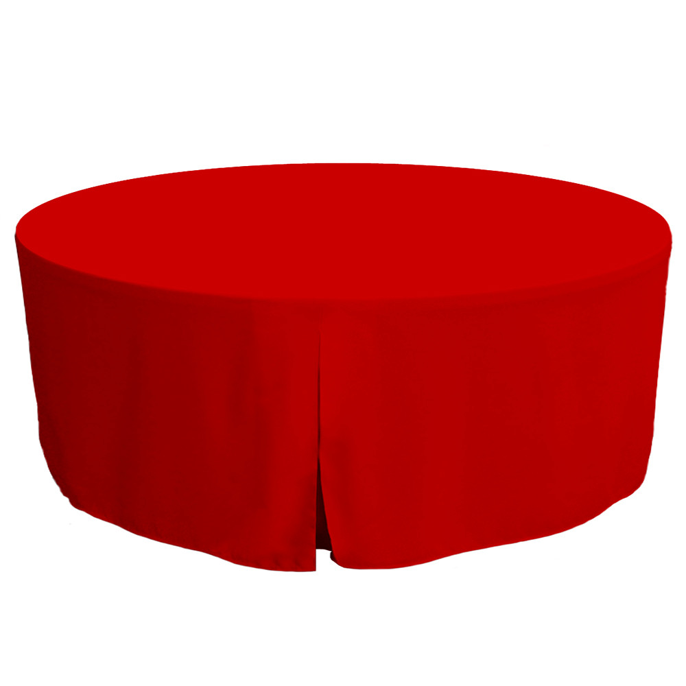 Nice 72 Inch Fitted Round Table Cover   Red