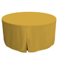 60-Inch Fitted Round Table Cover - Mimosa