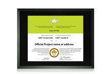 Black Glass Certificate Frame