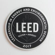 Premium LEED Plaque | Surface Finish: Brushed + Background Finish: Black