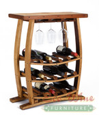WINE BARREL WINE RACK WITH TABLE TOP