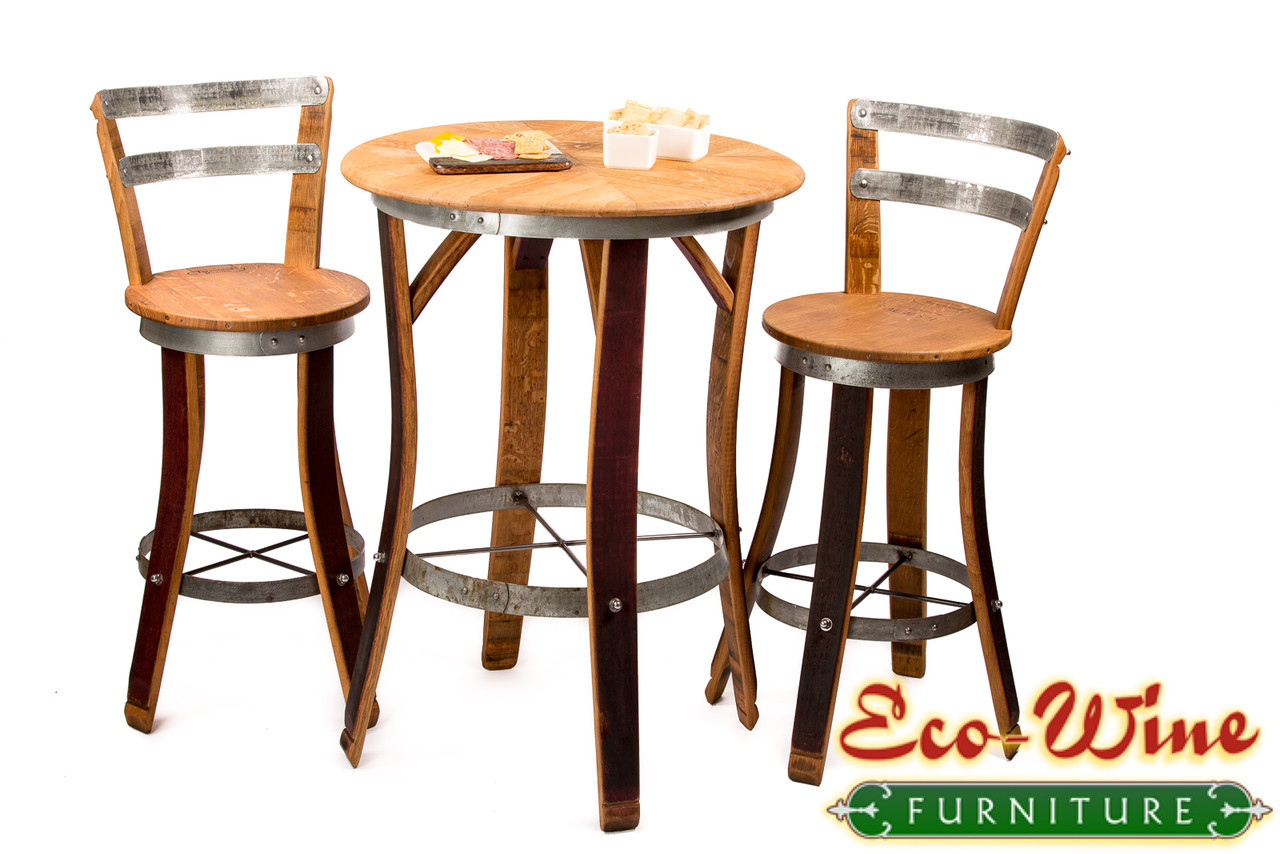 Peachy Wine Barrel Bistro Table Chair Set Download Free Architecture Designs Scobabritishbridgeorg