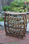 Own an impressive wine rack. This stand-up wine rack features storage for 34 wine bottles on five shelves.