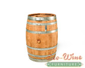 WINE BARREL TRASH CAN, 30 GAL