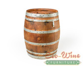 WINE BARREL TRASH CAN, 59 GAL