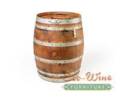WINE BARREL TRASH CAN, 59 GAL