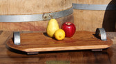This all-oak platter has a flat design and smooth finish. What a great way to serve your favorite food items.