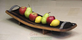 A Wine Barrel Platter w/ metal handles, a great way to display and serve your favorite cheese, bread, or fruit.