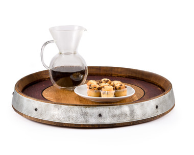 Our Lazy Susan is designed to make entertaining and dining more convenient by moving food from one person to another while enjoying your meal. This solid oak Lazy Susan features smooth-rolling ball-bearing turntable and a non-toxic finish that is safe for food use with a beautiful Red Stain inner rim. (Large) (No Handles)