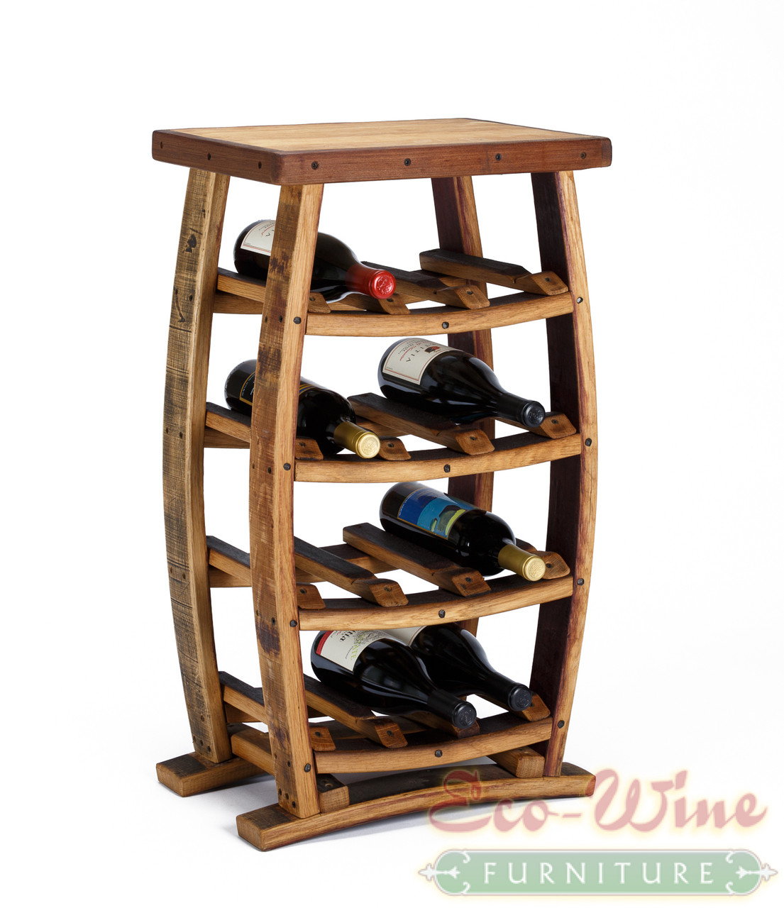 This Stand Up Wine Rack Features Storage For 12 Wine Bottles On Four Shelves .