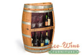 Wine Barrel Rack, 18 Bottles, Books. / Handcrafted