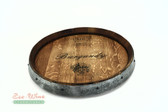 Wine Barrel Lazy Susan Burgandy