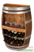 Wine Barrel Rack,  Shelf , Bottles, Books. / Handcrafted