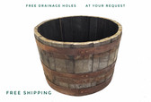WHISKEY  BARREL HALF BARREL PLANTER
